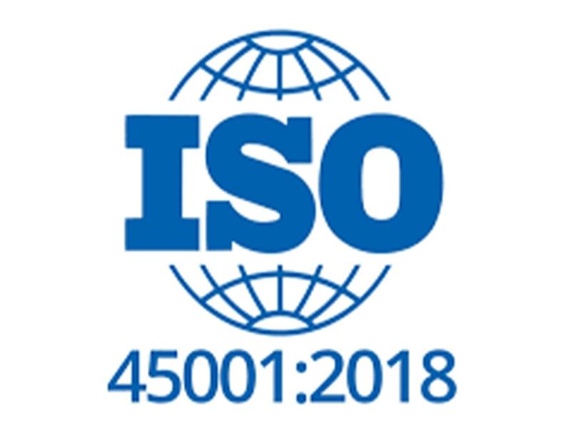 Na slici je prikazan ISO 45001:2018 standard za zdravlje i sigurnost na radu.