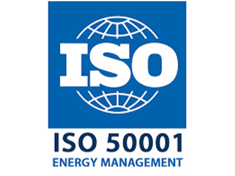 Na slici je prikazan ISO 50001 standard za energetsku učinkovitost.