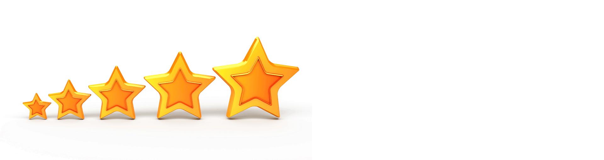 Slika simbolizira našu uspješnost i recenziju naših klijenata.