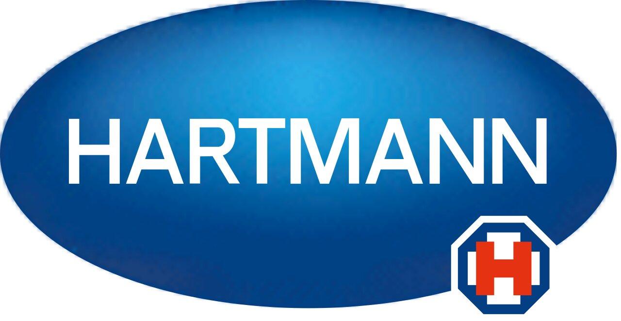 Na slici je prikazan logo kompanije Hartmann.