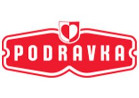 Na slici je prikazan logo kompanije Podravka.