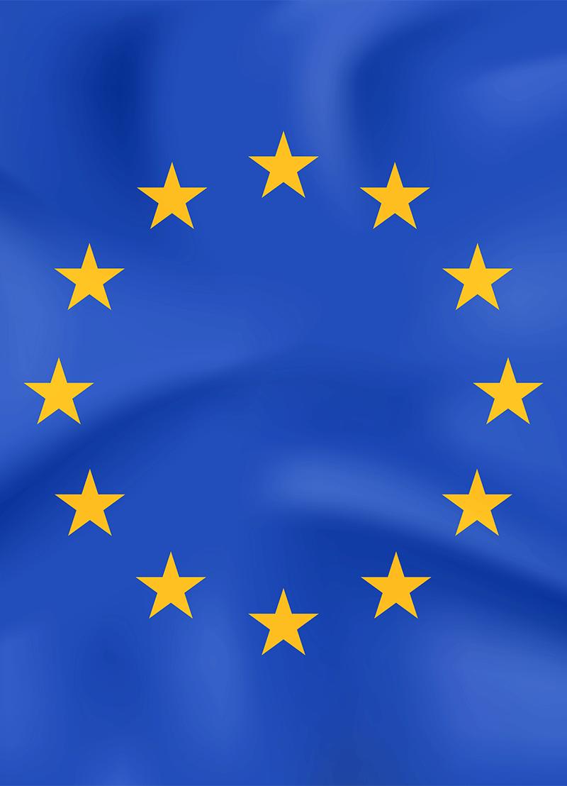 EU zastava za sufinancirane projekte iz EU fondova.
